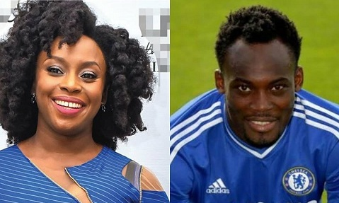 I once had a crush on Ghanaian footballer, Michael Essien - Chimamanda Adichie reveals