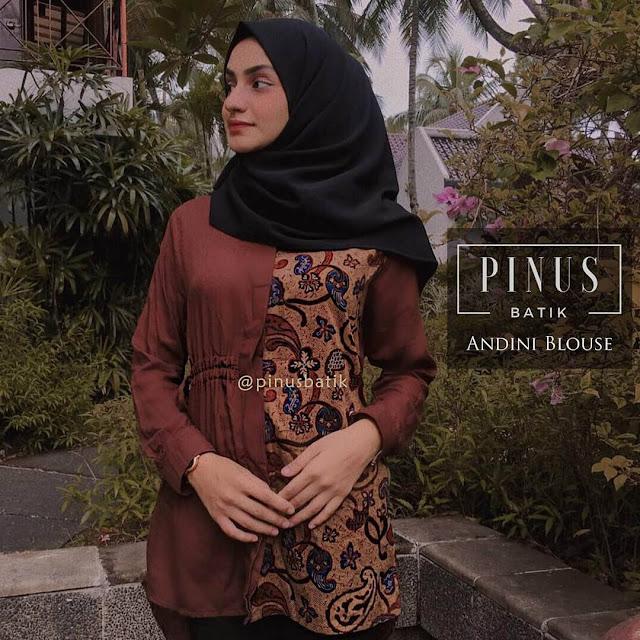Model Baju Batik Wanita Islami Kekinian dan Modern