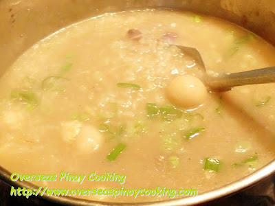 Chicken Guya Lugaw - Cooking Procedure