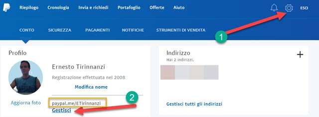 creare paypal.me link