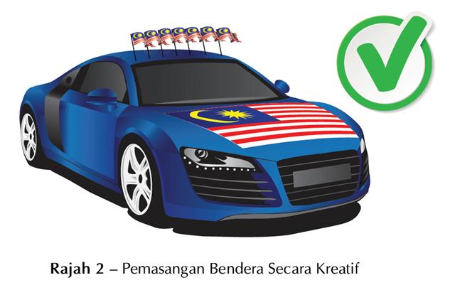 Cara Yang Betul Pasang Bendera Malaysia pada kereta