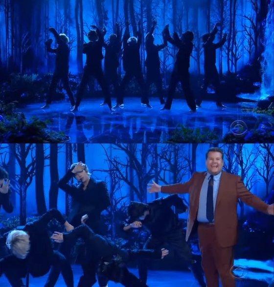 BTS, James Corden şovda 'Black Swan' performansı sergiledi