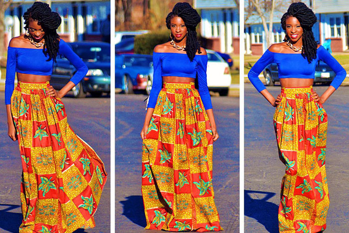 Latest Ankara Pleated skirt styles (2)