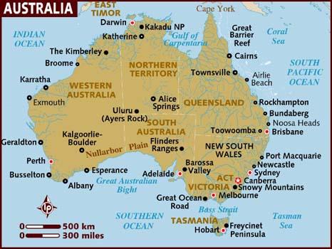 Austrália   Mapas da Austrália