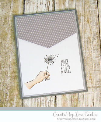 Make a Wish card-designed by Lori Tecler/Inking Aloud-stamps from Ellen Hutson