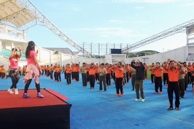 Tingkatkan Sinergitas TNI - Polri dan Awak Media Melalui Olah Raga Bersama