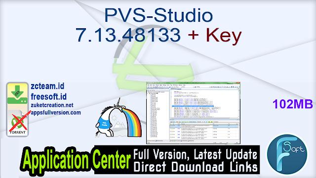 PVS-Studio 7.13.48133 + Key_ ZcTeam.id