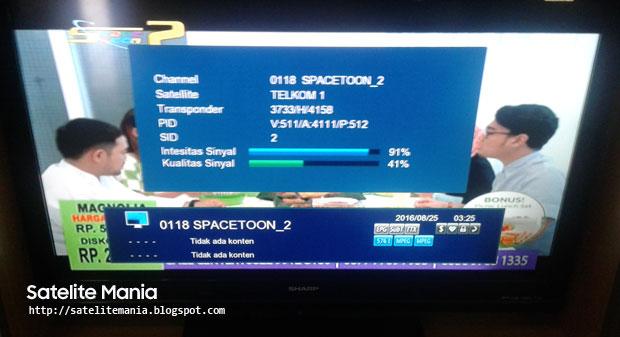 Frekuensi Terbaru Channel Space toon 2 di Satelit Telkom 1