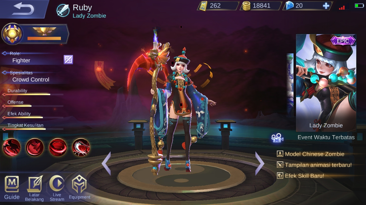 Hero Mobile Legend dengan darah tebal Ruby