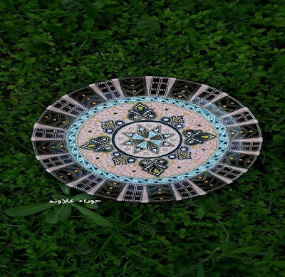 لوحة أخرى للفنانة حوراء علاونه Mandala art