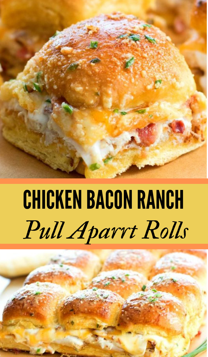 Chicken Bacon Ranch Pull Apart Rolls #dinner #healthyeating