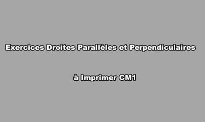Exercices Droites Parallèles et Perpendiculaires à Imprimer CM1