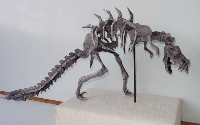 dinosauro-t-rex-origami