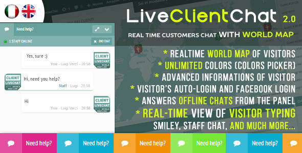 Live Client Chat v2.0 - Help Chat With Visitors Map