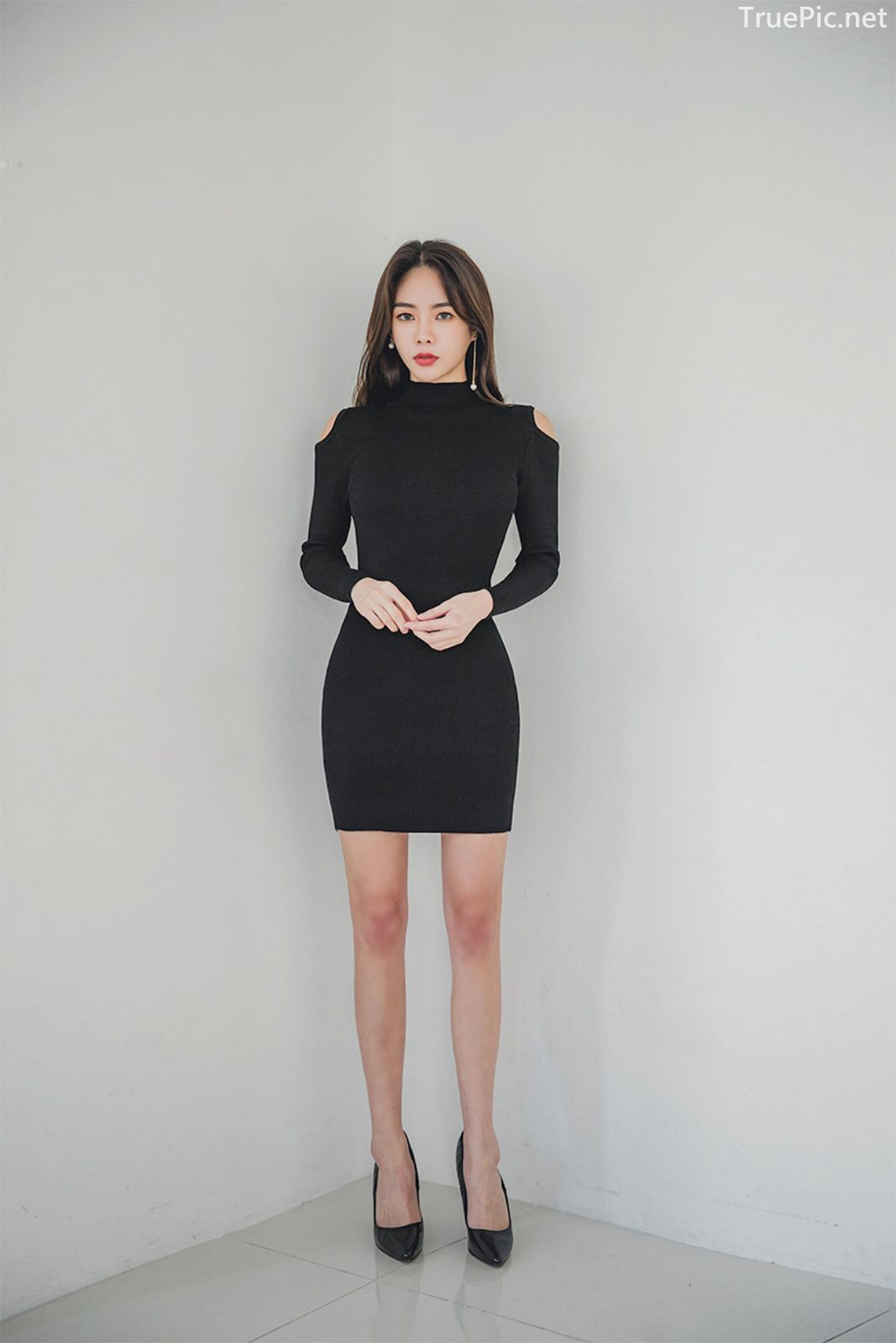 Korean fashion model - An Seo Rin - Woolen office dress collection - TruePic.net - Picture 9