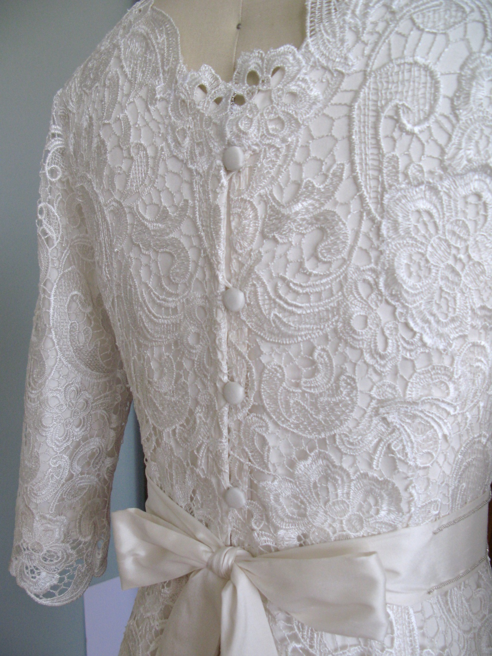 Modest Maven Guipure Lace Wedding Dress