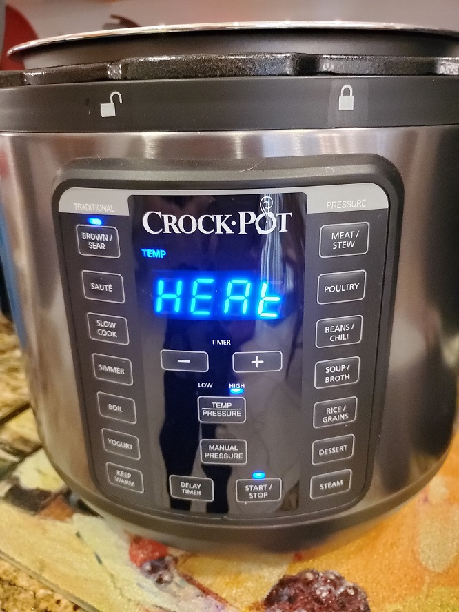 this is my crockpot cooking a pork butt in it