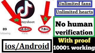 Unlimited TikTok Fans,Hearts No Human verification