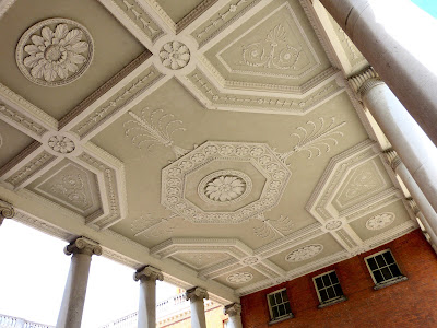 Ceiling in outside courtyard at Osterley © A Knowles 2014
