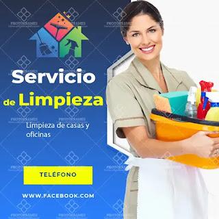plantilla de anuncio para promocionar y buscar trabajo de domestica o muchacha o criada