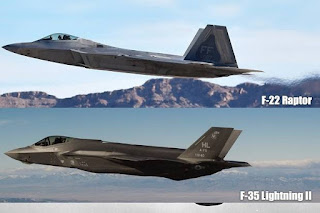 Jet Tempur F-35 dan F-22 Amerika Serikat
