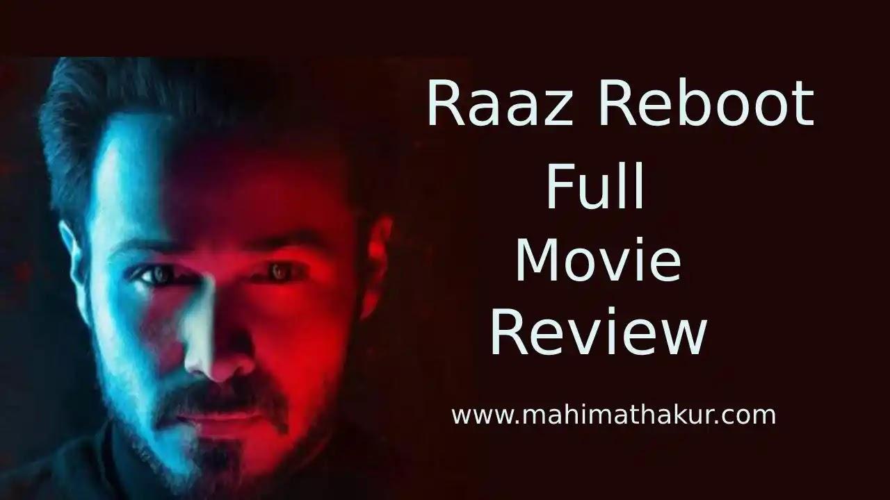 Raaz Reboot Full Movie Review