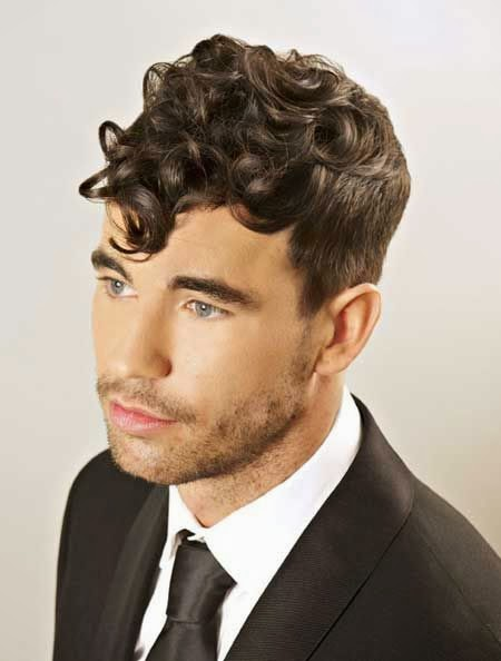 New Hairstyles for 2014  New Curly Hairstyles for Men