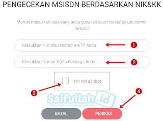 Cara cek kartu yang teregistrasi via Website Situs Indosat Ooredoo