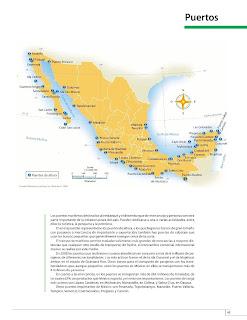 Apoyo Primaria Atlas de México 4to Grado Bloque III Lección 4 Puertos
