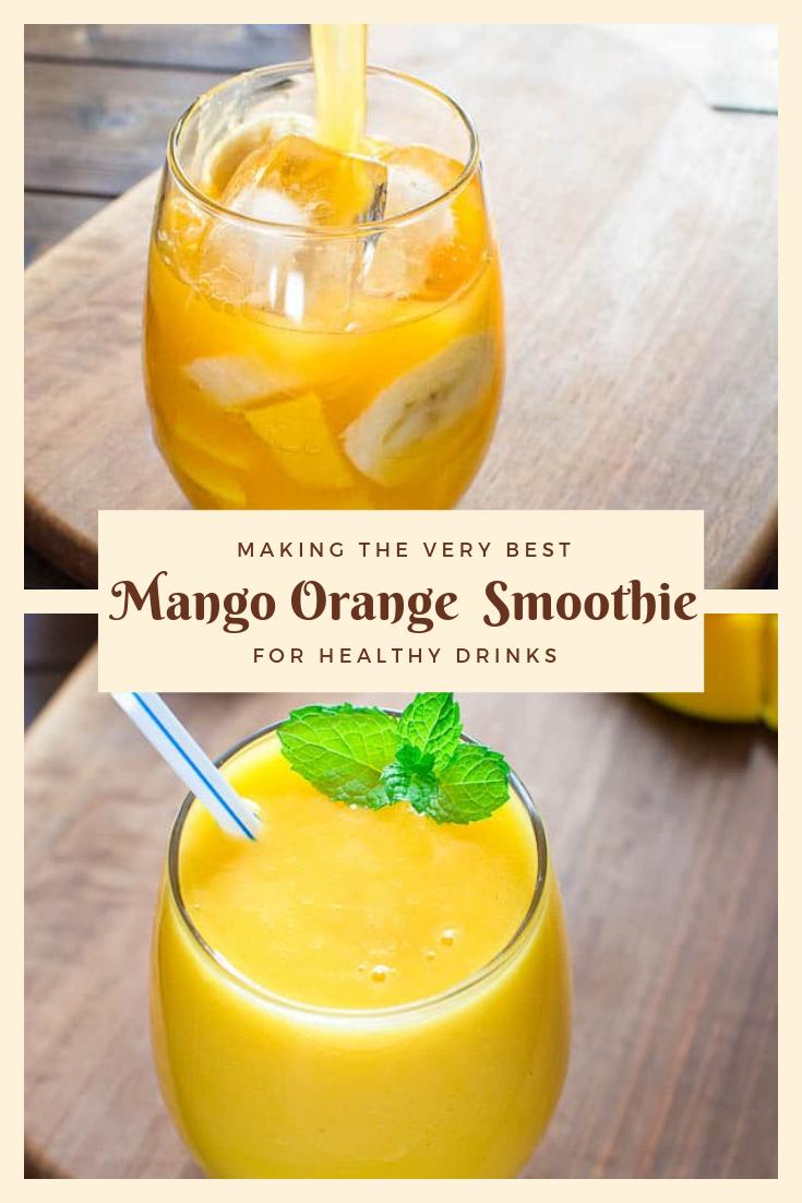 Healthy Recipe Mango Orange  Smoothie For Desserts