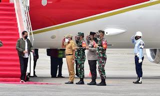 Tiba di Bandara Kualanamu, Presiden Jokowi Disambut Gubernur, Kapolda Sumut dan Pangdam I/BB