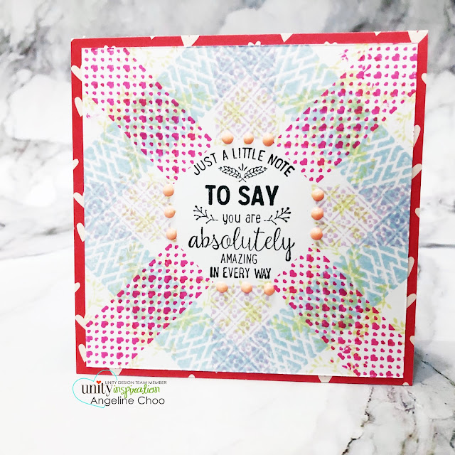 ScrappyScrappy: Unity Stamp Ann Butler Background Builders  #scrappyscrappy #unitystampco #annbutler #backgroundbuilders #cardmaking #card #papercraft #stamping #youtube #quicktipvideo #quiltpattern #backgroundstamp #ginakdesigns #wreathbuildertemplate #wreathbuilder #stampingplatform #mementodyeinks #sentimentkit #everythingcomesfullturn #nuvodrops