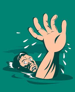Image of man drowning: This article is about rescue stroke
