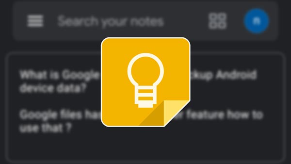 How to enable dark mode on Google Keep Notes App?