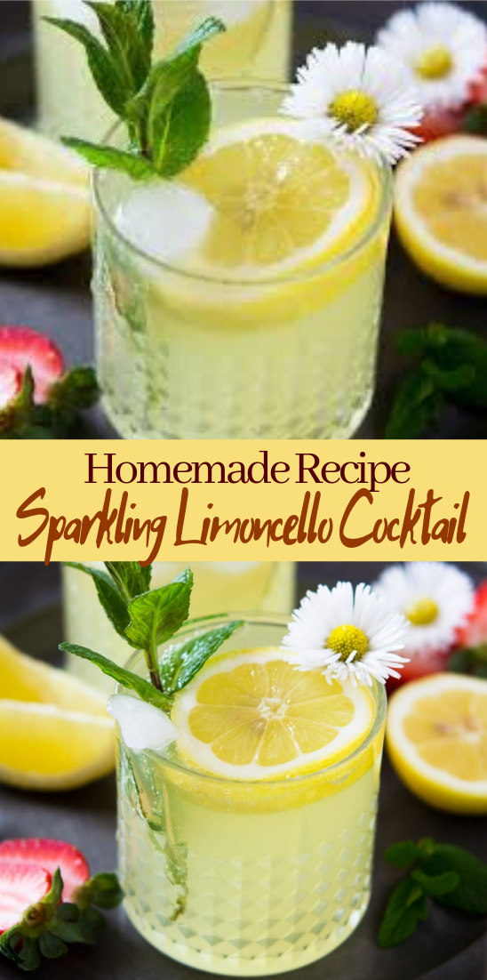 Sparkling Limoncello Cocktail  #healthydrink #easyrecipe #cocktail #smoothie
