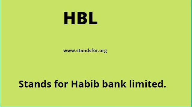 HBL-Habib Bank Limited
