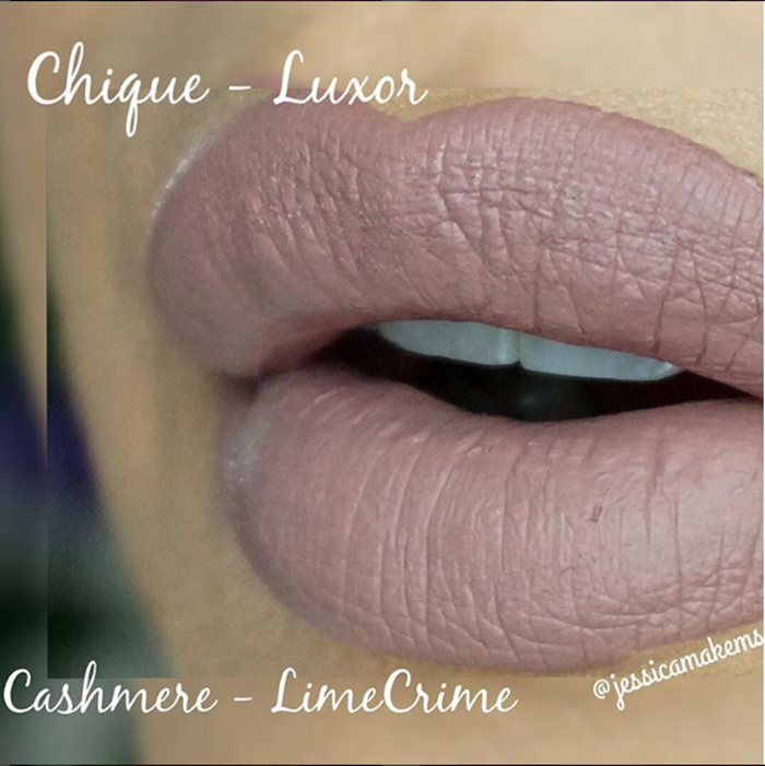 Dupe do batom Cashmere da Lime Crime