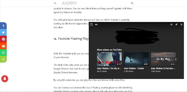 YouTube Floating Player - YouTube Features, Tips And Tricks