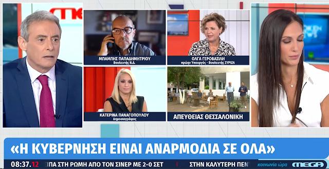 Όλγα Γεροβασίλη: Η χώρα κυβερνάται από κυβέρνηση Αναρμοδίων. Ευθύνη φέρει μόνο η πανδημία και άλλα τινά φυσικά και μεταφυσικά…