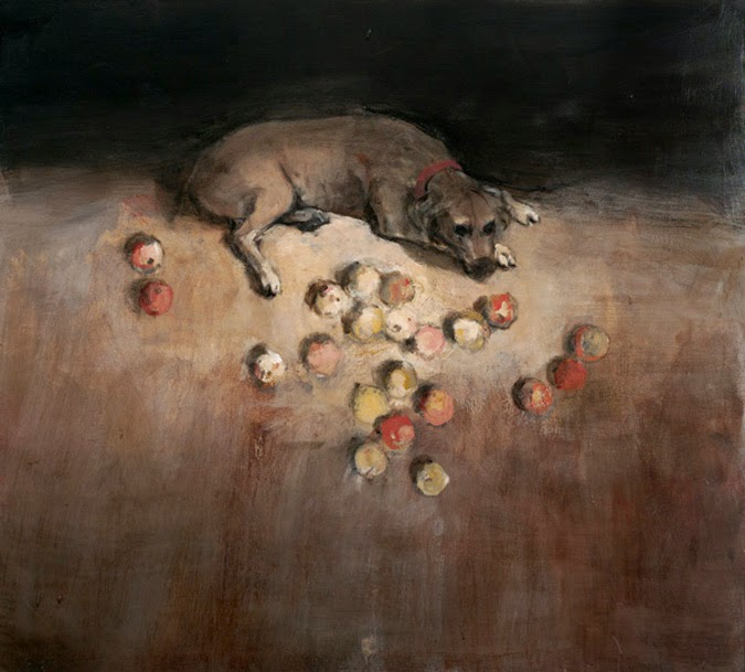 Miguel Macaya's Paintings of Dogs - Notes from the Pack
