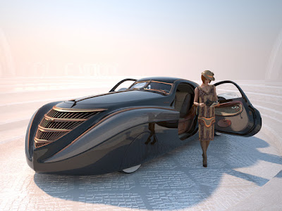 Duesenburg Coupe Simone Midnight Ghost with girl image