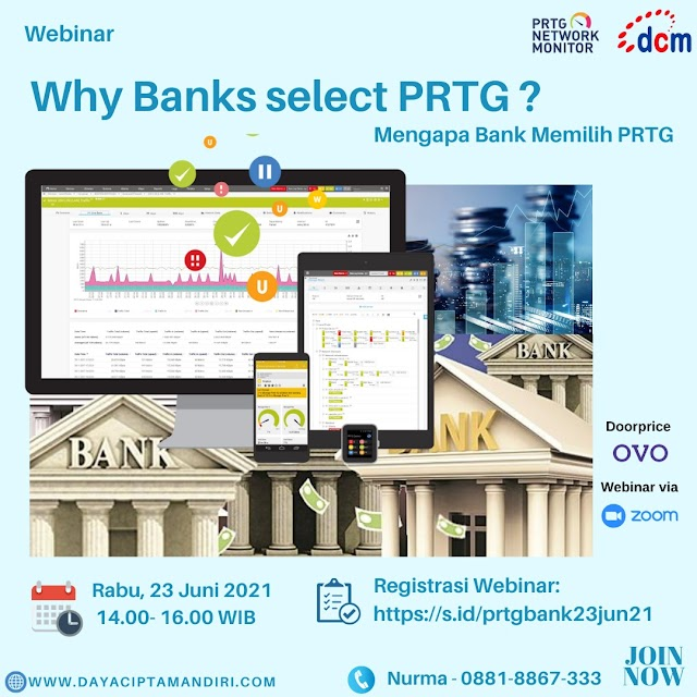 Webinar Why Banks Select PRTG ?