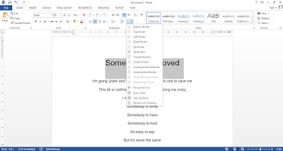 Cara Membuat Border di Word