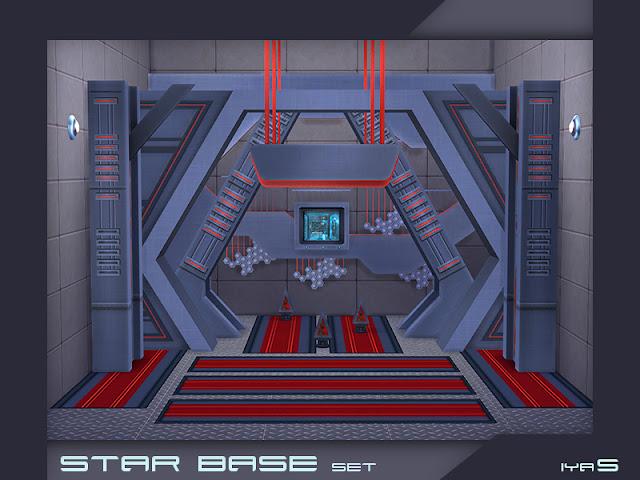 Star Base set Звездный Базовый набор для The Sims 4 Звездный базовый вариант дизайна для тех, кто любит футуристический стиль. Создайте свою собственную звездную базу! В набор входит 10 предметов.