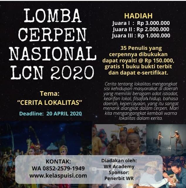LOMBA CERPEN NASIONAL (LCN) 2020 Tema Cerita LOKALITAS