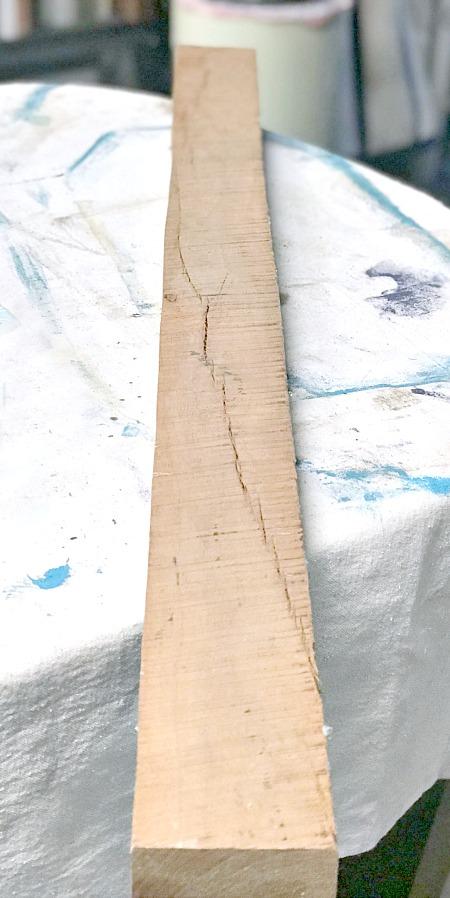 Rustic Hewn Wooden Board