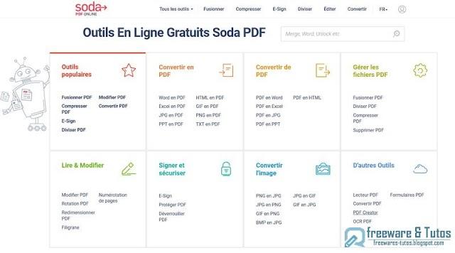 Soda PDF Online : une suite PDF en ligne gratuite