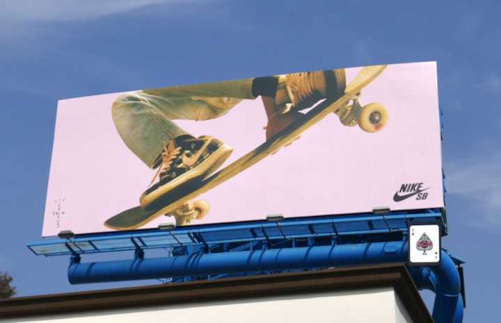 Nike SB Cactus Jack skateboarder billboard