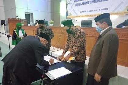 Abu Daod Sah Jeut keu Ketua MPU Aceh PAW Masa Bakti 2017-2022
