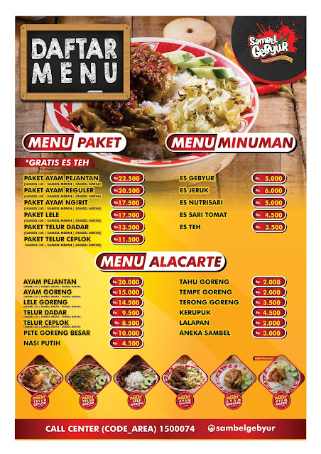 daftar menu nasi box sambel gebyur purwokerto